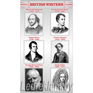 Стенд british writers